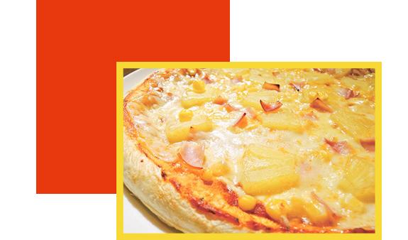 パイナップルコーンピザ